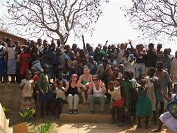 UNICEF Bangwe team photo Displays a larger version of this image in a new browser window