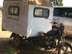 Ambulance bike Displays a larger version of this image in a new browser window