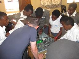 PC hardware training at Bwaila secondary school Displays a larger version of this image in a new browser window