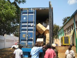 Unloading container 1 Displays a larger version of this image in a new browser window