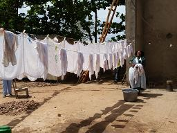 Mangochi Infant Home washing line Displays a larger version of this image in a new browser window