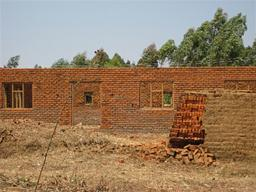 Malawi brick buildings Displays a larger version of this image in a new browser window